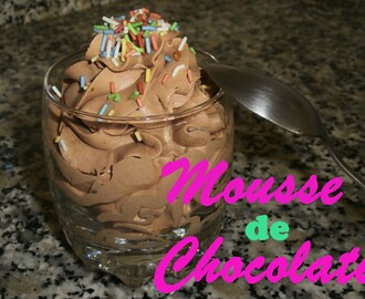 Mousse de Chocolate Fácil