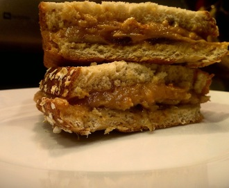 Peanut Butter and Key Lime Marmalade Sandwich w/ Cream Cheese and Apples