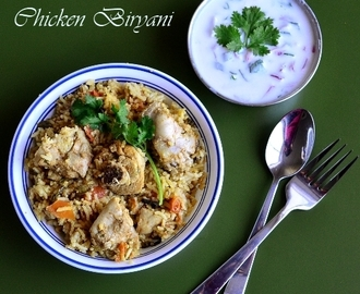 Easy Chicken Biryani using Pressure Cooker