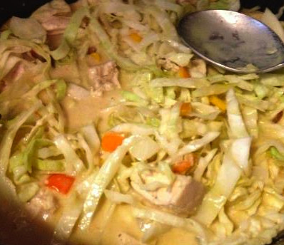 Chicken Curry and Cabbage