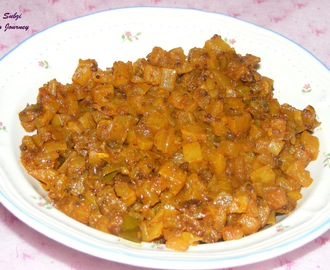 Mullangi Subzi/Mullangi curry (Radish curry with Indian spices)
