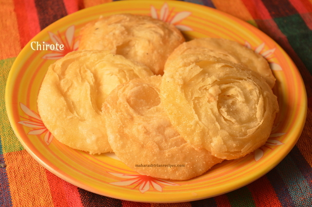 Chirote | Chiroti Recipe | How to Make Chiroti - Maharashtrian Recipes