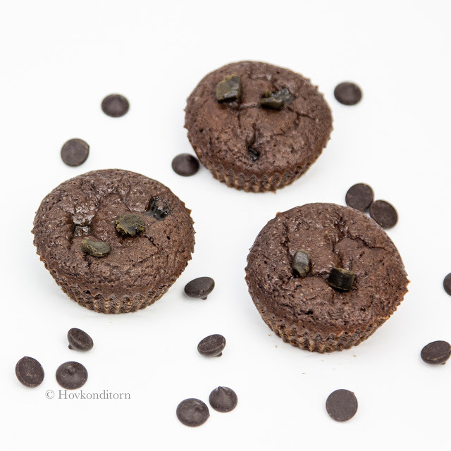 Licorice Toffee Chocolate Muffins