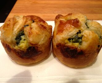 The Holiday Collection ~ Puff Pastry Cups Filled with Spinach and Feta Cheese….