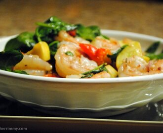 I'm Cooking Extra Lean – Greek Shrimp and Vegetable Sauté