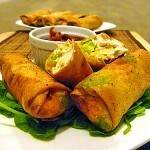 Avocado Eggrolls with Jalapeño and Cream Cheese