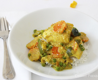 Curry de poisson au lait de coco & au citron vert