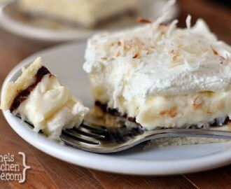 Chocolate and Coconut Cream Pie Bars