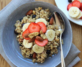 POWER ONTBIJT: QUINOA, HAVERMOUT, NOTEN EN FRUIT