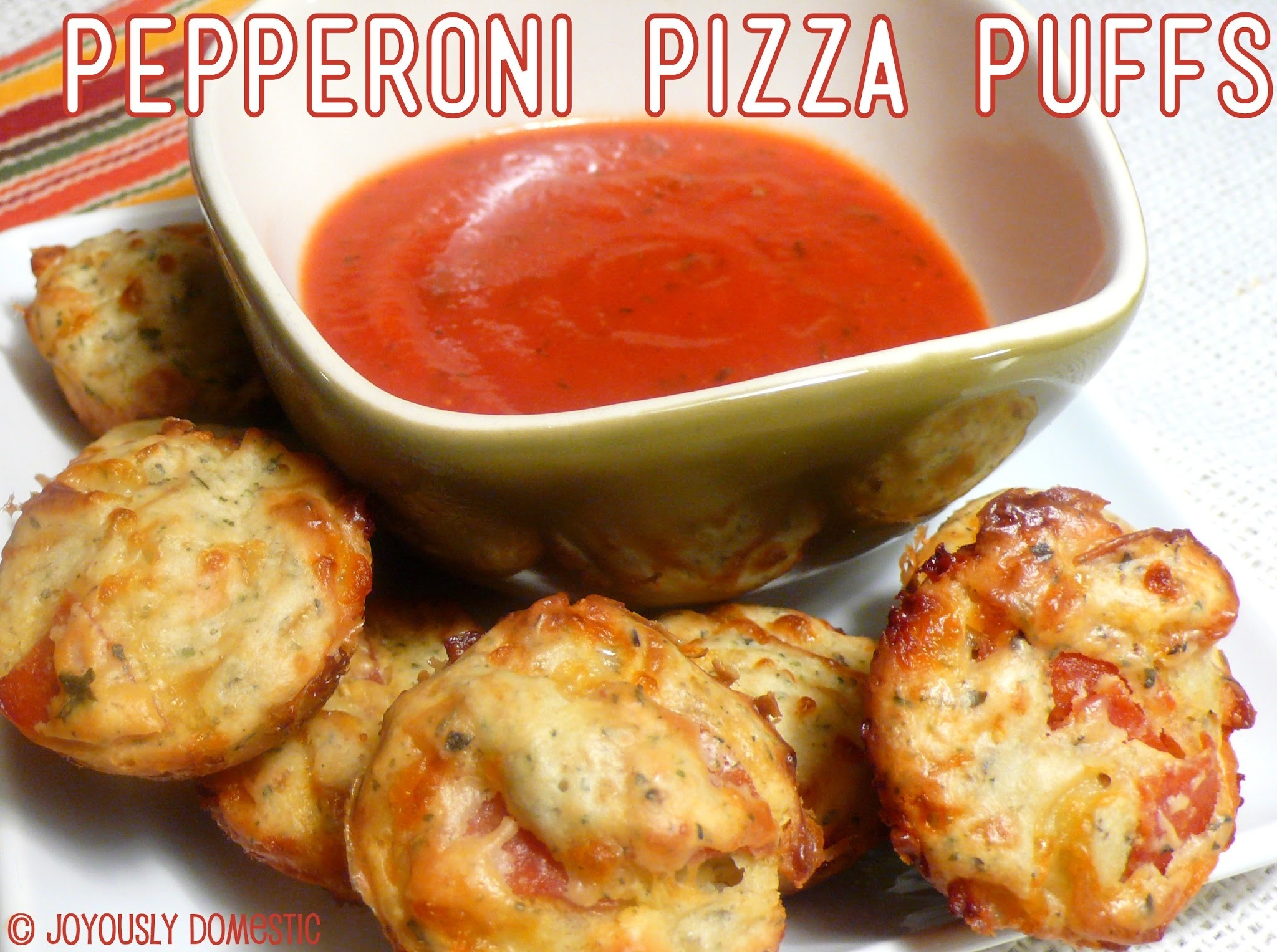 Pepperoni Pizza Puffs - My Kids in the Kitchen