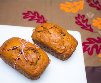 Pumpkin & Choc Chip Banana Bread