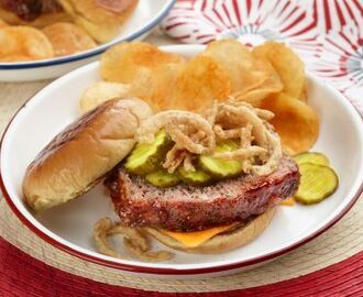 All-American Down-Home Patriotic Meatloaf Sandwich