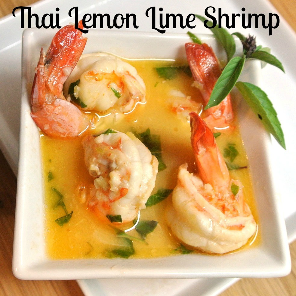 Thai Coconut Lemon Lime Shrimp