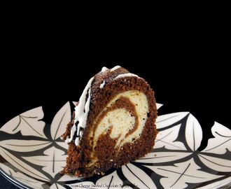 Cream Cheese Swirled Chocolate Bundt Cake #BundtaMonth