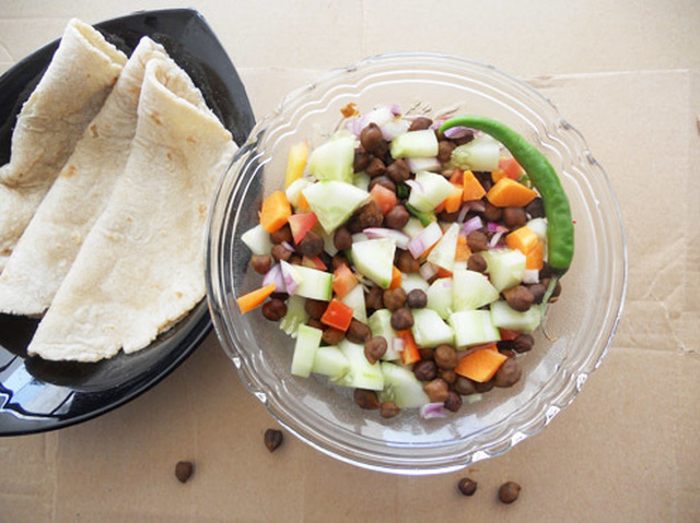 Kala Chana Salad-Black Chickpea Salad.