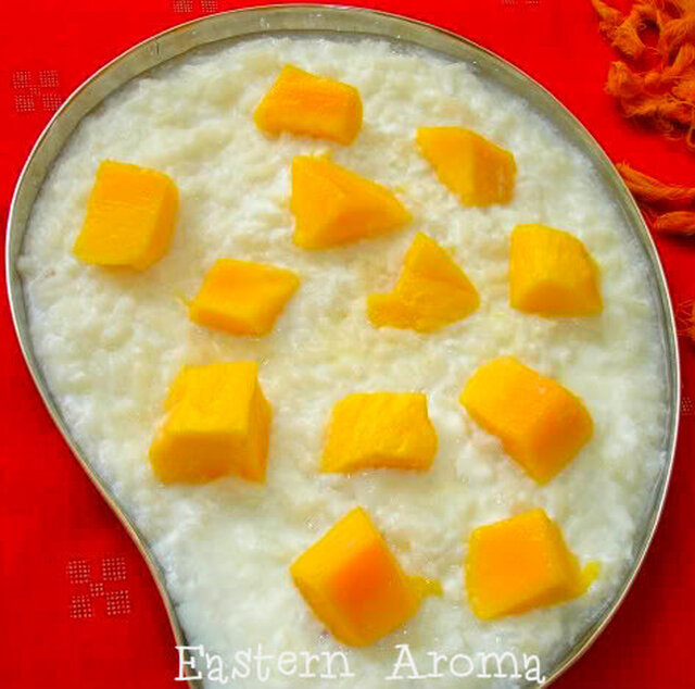 Time to switch to a Chire -Doi -Aam (Beaten rice with Mango Yogurt) breakfast