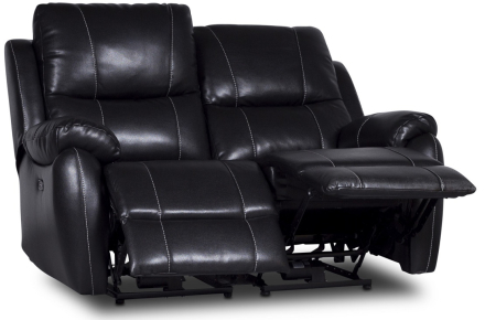 Enjoy Chicago El-Recliner 2-sits soffa - Svart microfiber
