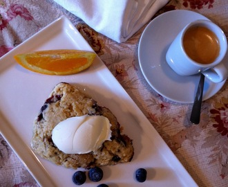 Blueberry Blackberry and Orange Streusel Scones