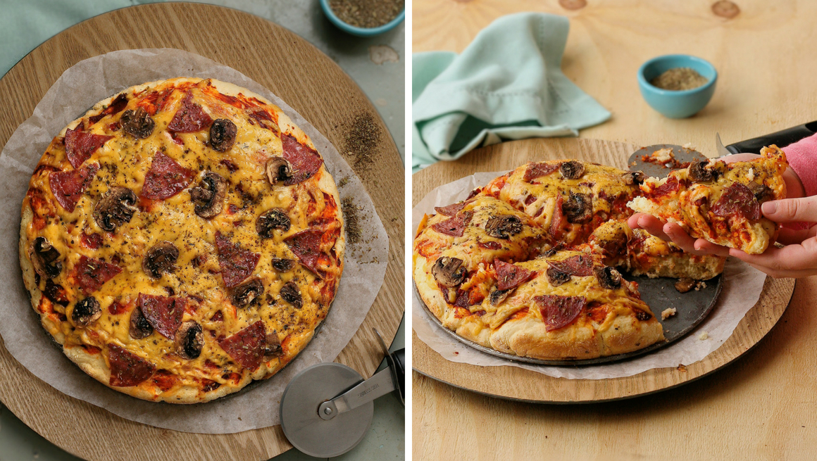 Easy scone dough pizza