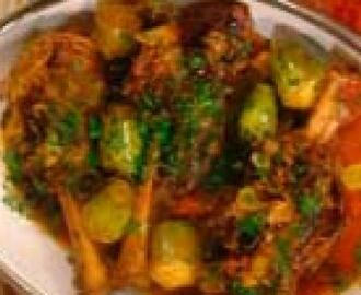 Lamb Shanks with Artichokes and Olives: Stinci di Agnelli con Carciofi e Olive