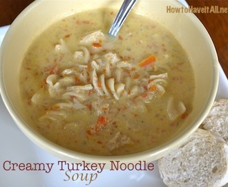 Creamy Turkey Noodle Soup Recipe