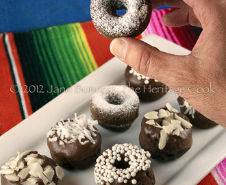 Mini Baked Chocolate Cake Donuts for Chocolate Monday