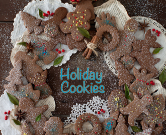 Chocolate - Coffee Christmas Cut-out Cookies