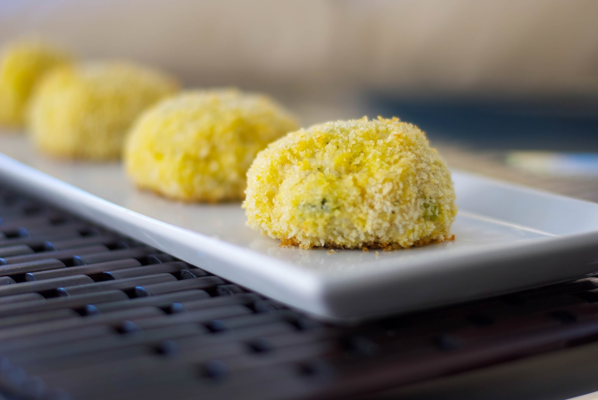 Baked Broccoli and Cheese Arancini (Rice Balls)