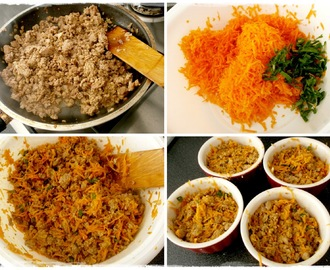 """Jednoporciové"" zapekané mleté bravčové s mrkvou / Single serving ground pork with carrot"