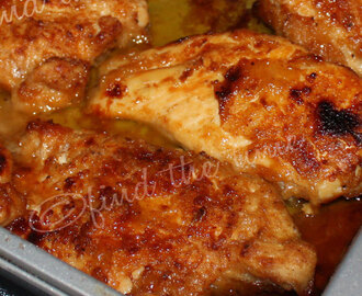 Oven Fried Chicken with Honey Butter Sauce