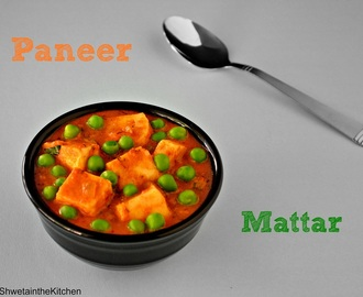 Mutter Paneer - Mattar Paneer - Paneer Mutter - Cottage Cheese & Green Peas Curry