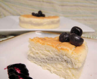 Blueberry Japanese Cheesecake