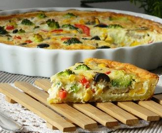 Quiche Tutorial (Vegetarian recipe). Vegetarische Quiche.