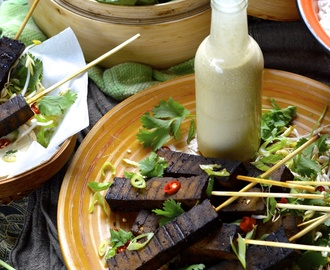 Tofu Satay with Lemongrass, Coconut and Tahini Sauce (Vegan, Gluten Free)
