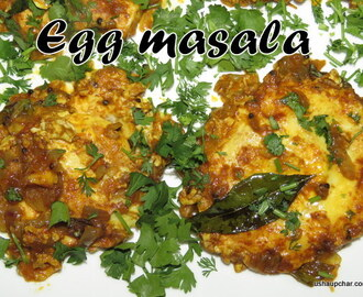 Egg Masala with sambar powder