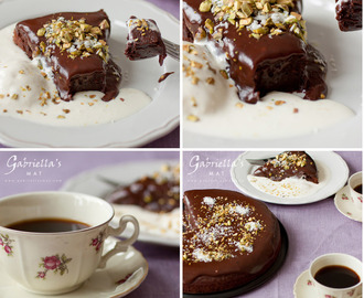 Chokladkaka med Kaffe, Pistage & Kokos – Chocolate Cake with Coffee, Pistachios & Coconut