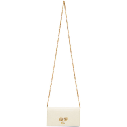Gucci White Bow Wallet Bag