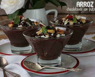 ARROZ CON LECHE CHOCOLATEADO CON FRUTOS SECOS