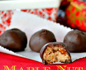 Maple Nut Chocolate Candies