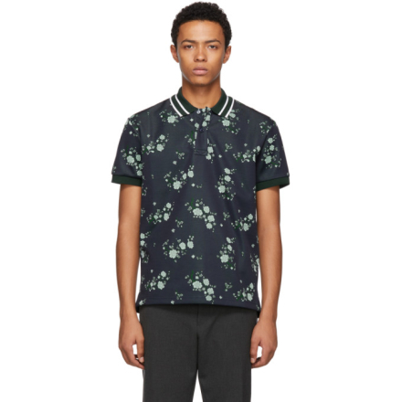 Kenzo Navy Floral Polo