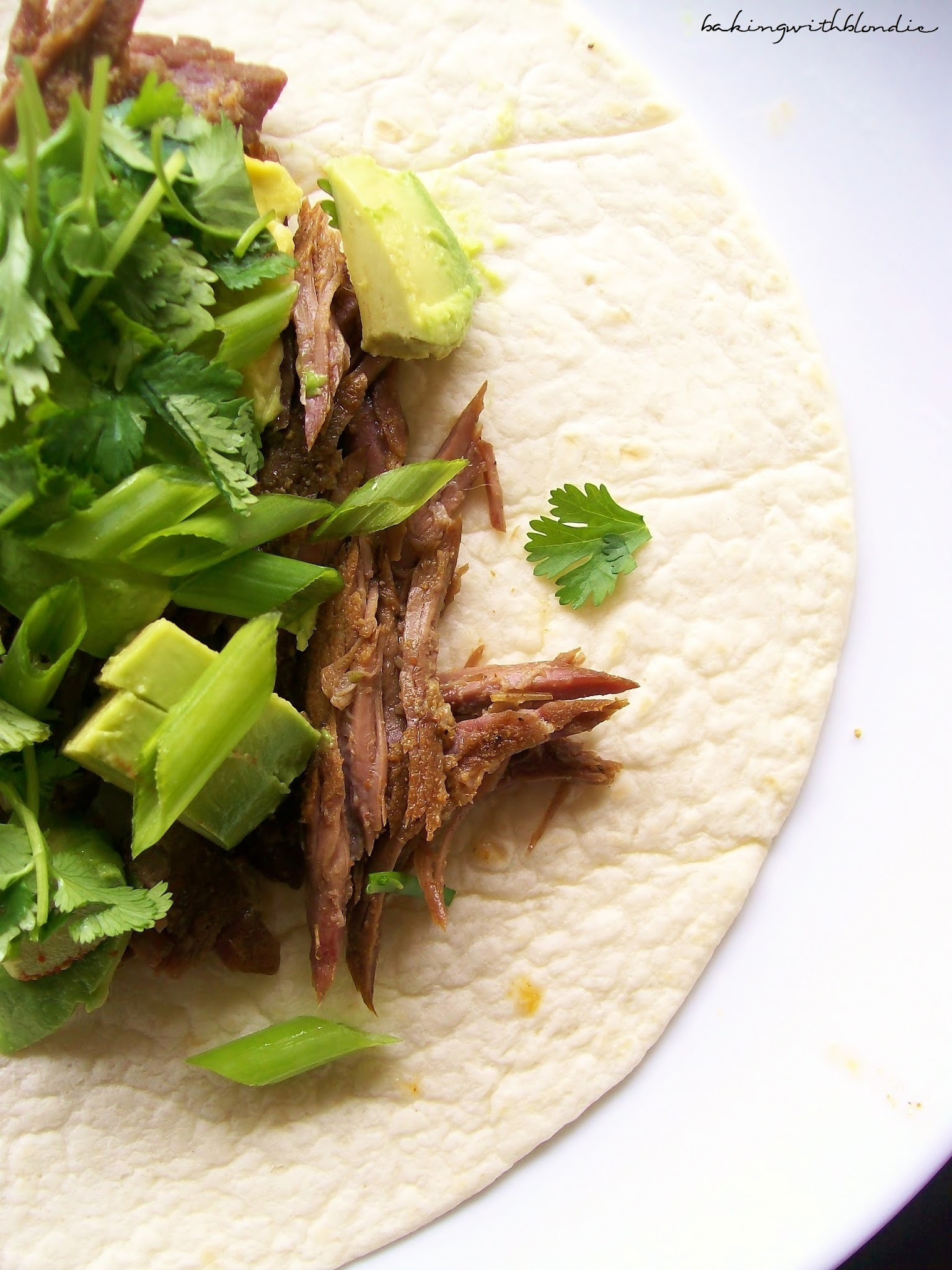 Crock Pot Beef Carnitas Tacos