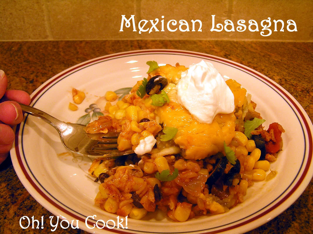 Slow Cooker Mexican Lasagna - And a Giveaway!