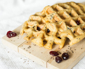 Recept: Cranberry Chiazaad wafels