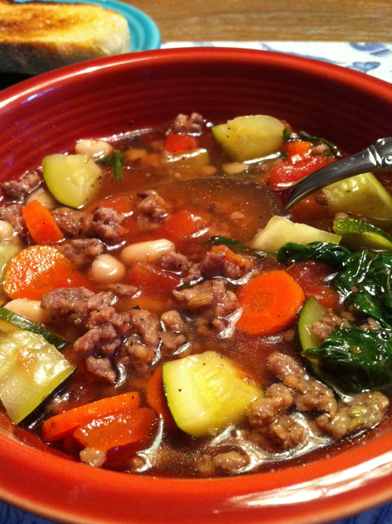 Super Easy Italian Sausage Soup
