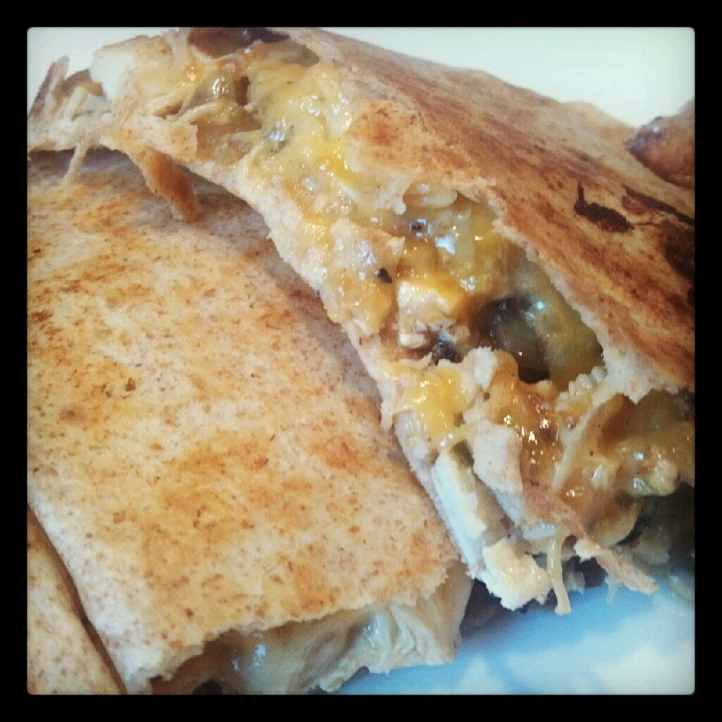 Chicken and Mushroom Quesadilla