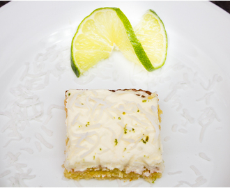 Lime, Coconut & White Chocolate Blondies