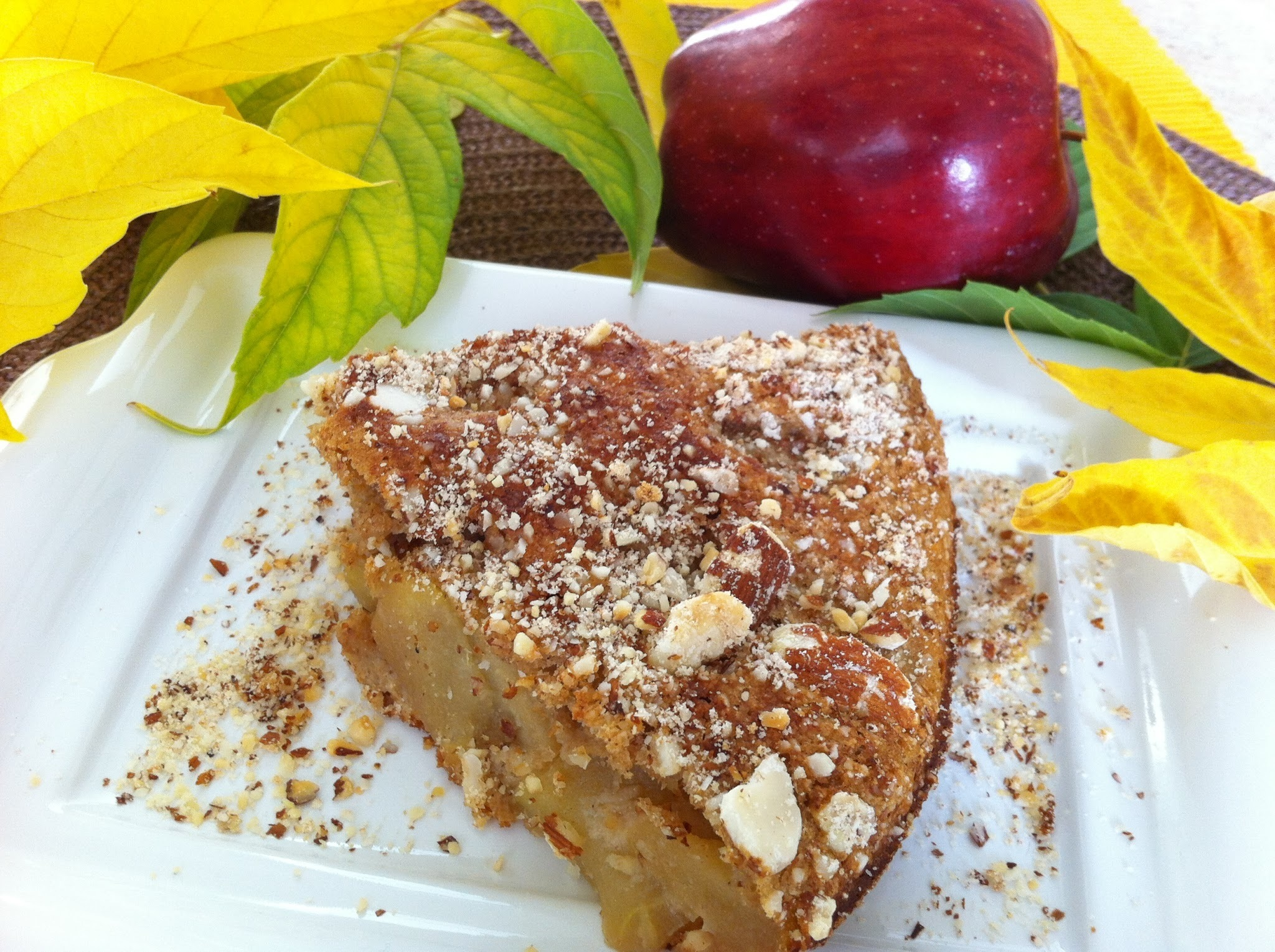 Apple Cake with Cinnamon and Almonds