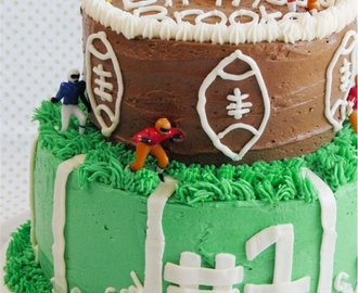 A Football Cake for Brooks' First Birthday