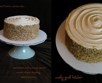 Carrot Cake with Spiced Frosting and Salted Pecans...