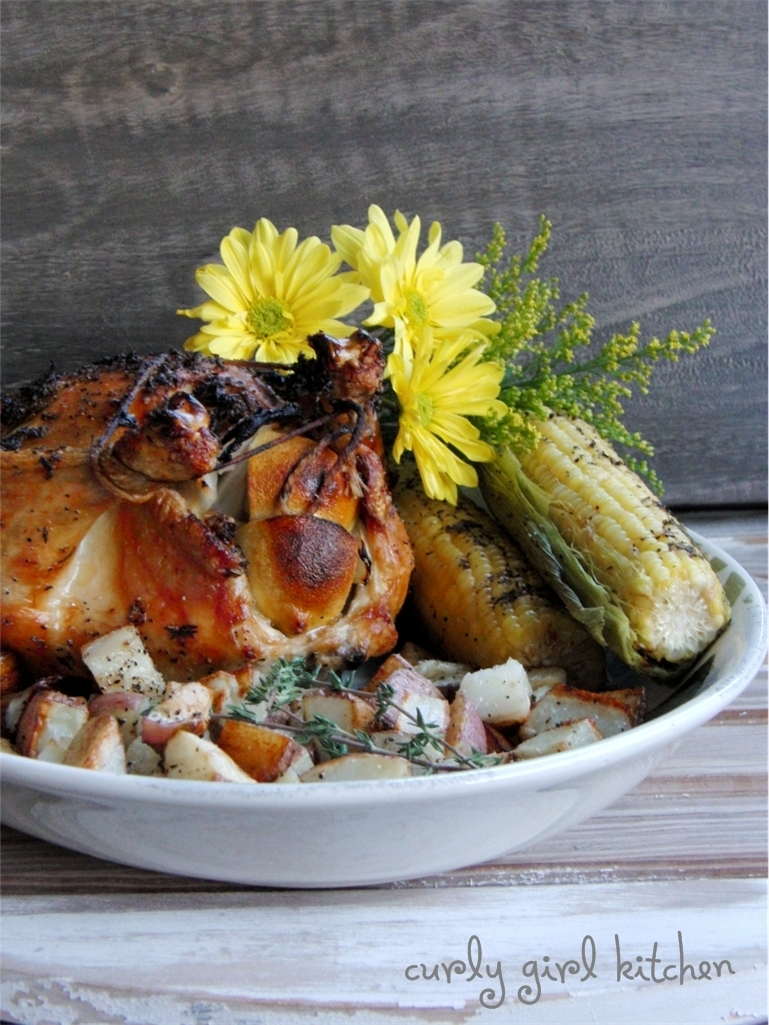 Roast Chicken with Lemon, Rosemary and Thyme